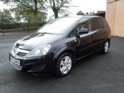 Vauxhall Zafira 1.6 Exclusiv 7 Seater Black Metalic